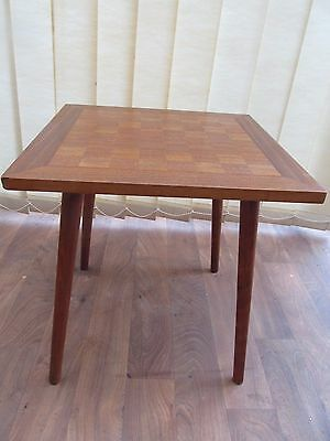 Chess Games Side Table Height 46 cm 45 Square Dansette Legs Vintage Furniture
