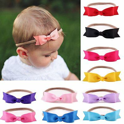 Cute Newborn Baby Girl Toddler Kids Headband Hair Bow Band Accessories Headwear