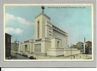 NOTTINGHAM & DISTRICT, Technical College,  old postcard