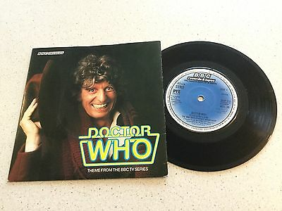 """Bbc Radiophonic Workshop  -  Doctor Who  -  7"""" 'tom Baker' Picture Cover"""