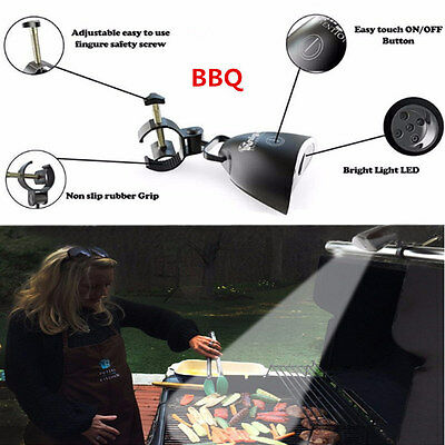 New Barbecue Grill Light with 10 Super Bright LED Lights Handle Mount BBQ Light