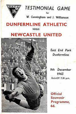 Dunfermline Athletic v Newcastle United Testimonial Match 9th December 1963
