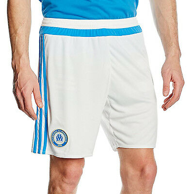 adidas Performance Mens Olympique Marseille Football Soccer Home Kit Shorts