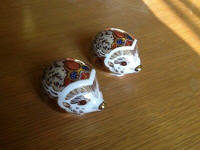Royal Crown Derby Paperweight Hawthorn and Bramble Hedgehogs