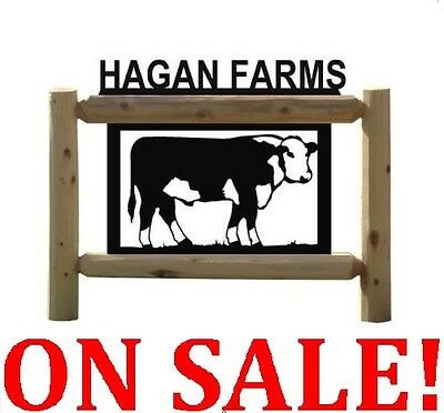 Sale!  Make Reasonable Offer! Scratched On Back-Clingermans Signs-Cows #ga 30