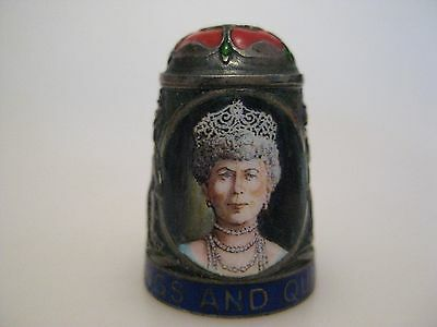 Peter SWINGLER Enamel on Silver KINGS AND QUEENS Series QUEEN MARY Thimble