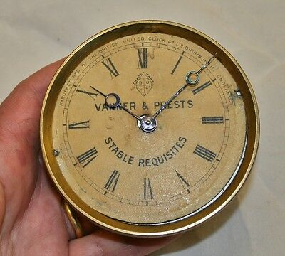 Antique Victorian Solid Brass Movement for 'Vanner & Prests' Advertising Clock
