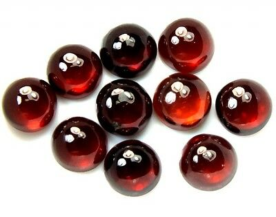 10 PIECES OF 3mm ROUND CABOCHON-CUT NATURAL ALMANDITE GARNET GEMSTONES £1 NR!