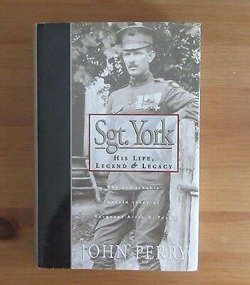 SERGEANT YORK WW1 BIOGRAPHY BOOK perry SGT