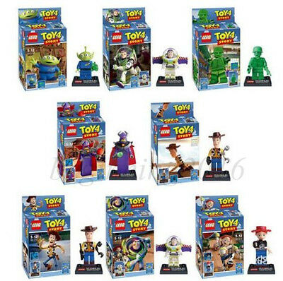 8pcs Set Toy Story Buzz Woody Mini figures Building Blocks Bricks Toys Kid Gift