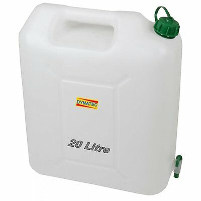 20 Litre Plastic Jerry Can & Pouring Tap Water Container Carrier Bottle 20L J018
