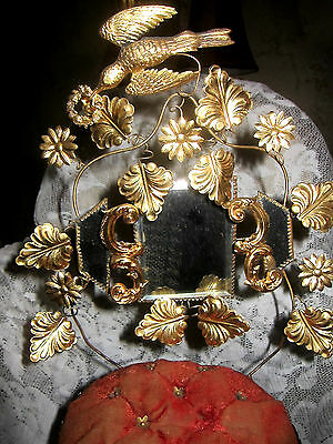 19th Century French Gold Gilt Toleware Boudoir Stand/Wedding