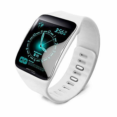 Tuff-Luv Silicone Wrist Watch Strap Band for Samsung Gear S smartwatch - White
