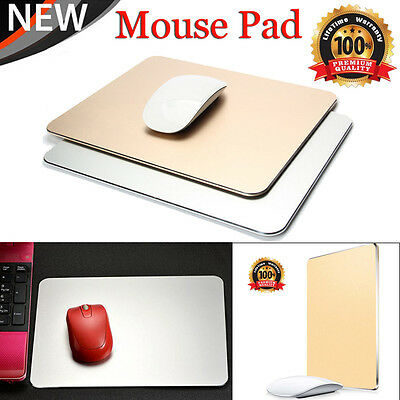 Luxury Aluminum Alloy Mousepad Office Game Metal Super Smooth Mouse Wrist Pad UK