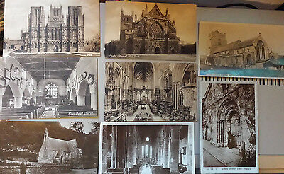 Set of 8 Church postcards (3 stamped)