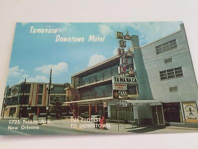Vintage Tamanaca Downtown Motel New Orleans Tulane Ave Postcard