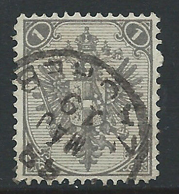 Bosnia Eagles 1879-94 Litho 1Kr gray perfr 12 1/2  used ZAGREB cds 124a/D1/T