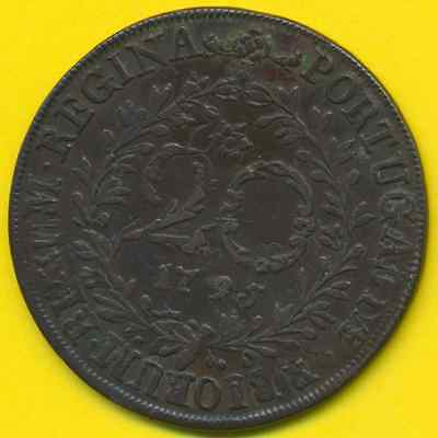 Azores  20 Reis  1795  VF+  rare condition