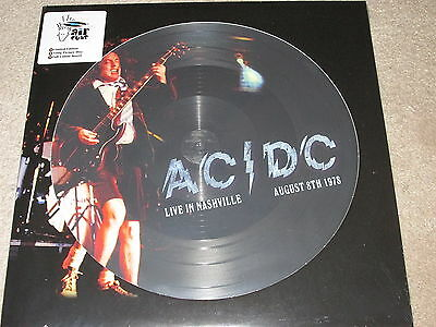 Ac/dc - Live In Nashville August 1978 - Picture Disc - New - Lp Record