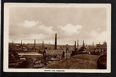 Middleton near Manchester - General View - real photographic postcard