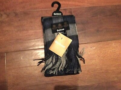 Brand New Barbour Scarf Cashmere & Lambs Wool Mix