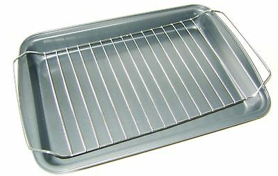 NEW ROASTING TRAY OVEN TIN WITH RACK NON STICK 35x24cms HARBEN HARBENWARE LARGE