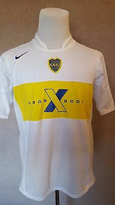 rare BOCA JUNIORS Football Shirt #10 MARADONA Size: Large EXCELLENT Condition