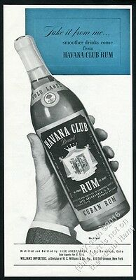 1944 Havana Club Rum Cuba Cuban rum bottle photo vintage print ad