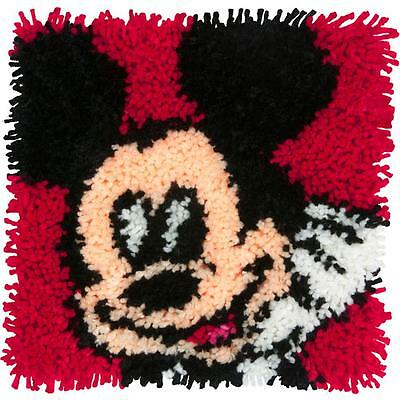 """Latch Hook Kit Disney MICKEY MOUSE 12"""" x 12"""" Dimensions New Release!"""