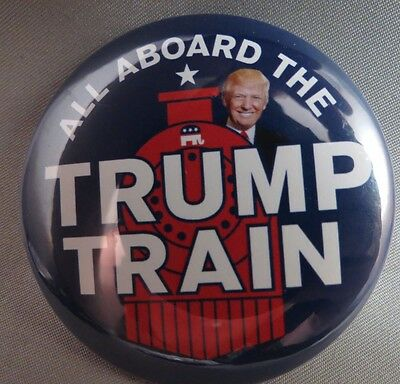Wholesale Lot Of 22 All Aboard The Trump Train Buttons For President Usa 2016 $
