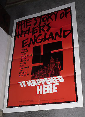 IT HAPPENED HERE original 1966 movie poster KEVIN BROWNLOW/NAZI INVADE BRITAIN