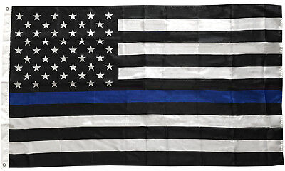 3x5 Ft Thin Blue Line USA Flag  - Polyester b