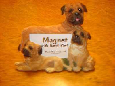 Bullmastiff Magnet With Easel Back Picture Frame Puppy Dog Collectible!