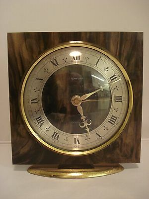 Vintage W German Tempora Smiths mantle clock quartz Perspex working