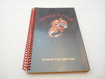 Motley Crue 2000 New Tattoo Maximum Rock Concert Tour Itinerary Book
