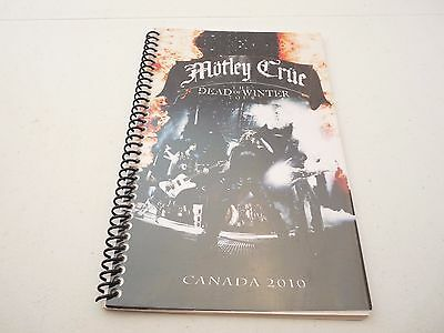 Motley Crue 2010 Canada The Dead Of Winter Rock Concert Tour Itinerary Book