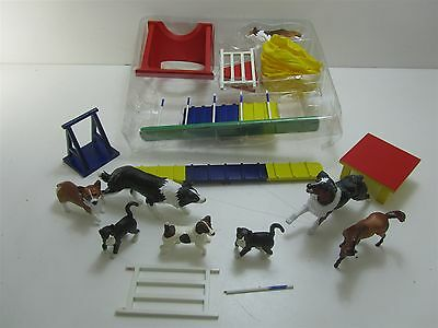 Assorted Breyer Reeves Dog Show Set w/ Collectible Collie + More