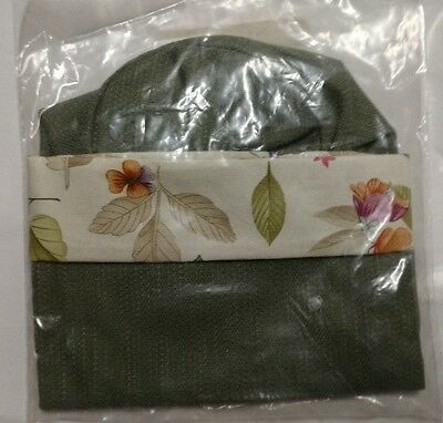 Longaberger SIX Botanical Fields Sage Green Beverage Tote Liners Wine Bags mint!