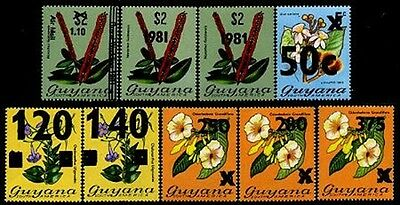 GUYANA SG# 793-96,801-04 1981 Ovpts. Stamps 2 Types of Ovpt. For 793 T187 & T189