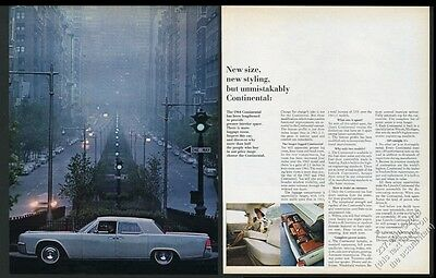 1964 Lincoln Continental car New York City Park Avenue color photo vintage ad