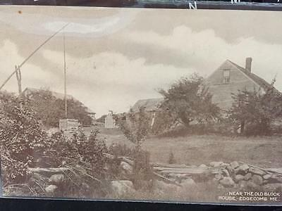 Old Block House Edgecomb Maine Postcard