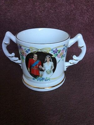 Aynsley Loving Cup H R H Prince William And Catherine  Middleton Wedding