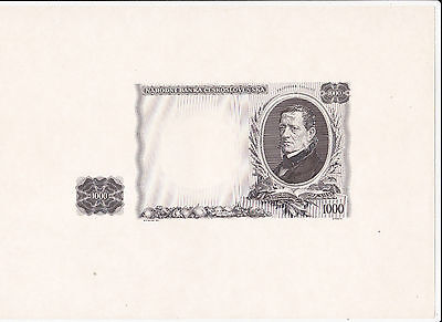 1000 Korun Ef Proof Print Of Banknote From Czechoslovakia 1934!pick-26S!i