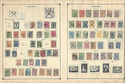 Finland Collection on Scott International Pages 1860-1963, 12 Pages