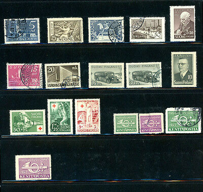 Finland Outstanding selection of 17 stamps -- Nice Value