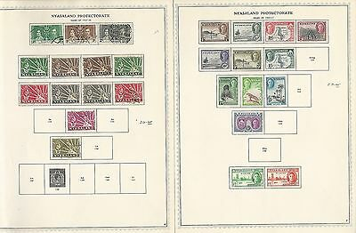 Nyasaland Protectorate Collection on Minkus Specialty Pages 1891-1964, 10 Pages
