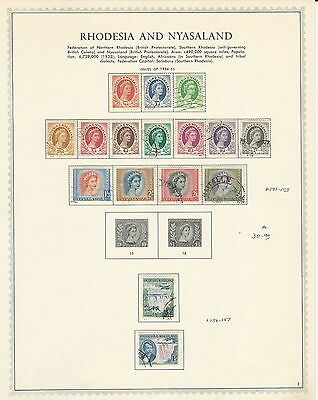 Rhodesia & Nyasaland Collection on Minkus Specialty Pages1954-1963, 4 Pages