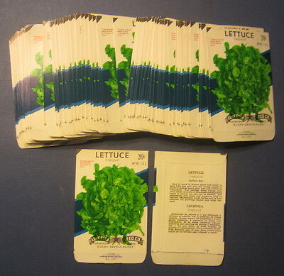 Wholesale Lot of 100 Old Vintage - LETTUCE - Oakleaf - SEED PACKETS - EMPTY