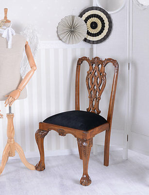 Vintage Dining Room Chair Chippendale Chair Mahogany Antique Style