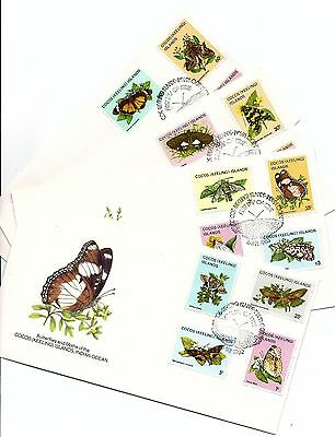 G145 Australia Cocos keeling butterfly FDC stamp set art topical